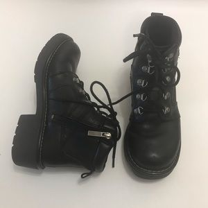 Harley Davidson Moto Boots Black Leather Heel 7